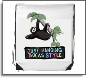 Backpack Just Hanging  Bocas Style​ Design – Sloths are just hanging about in the rain forest and enjoying life in Bocas.  Take some time ro look for them when you visit.  - Bocas Del Toro, Panama