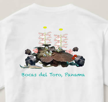 T-Shirt Back Design Coral Restoration Panama | Island Art  Products | Art & Souvenirs - Serving Bocas del Toro and Panamá - Support Coral Restoration!